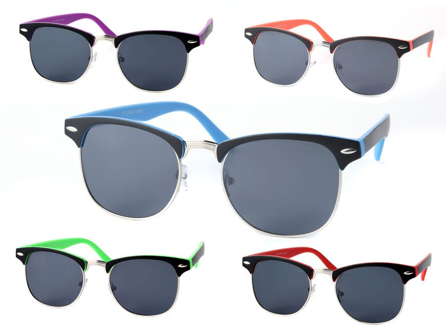 Clubstyle Sonnenbrille 60er Jahre Herren Damen Vintage Brille markanter Halbrahmen von Alsino
