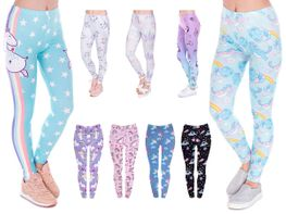 Leggings Damen Bedruckt Sexy Leggins Ladies mit Print Look Motiv Muster Stretch Legins Hose von Alsino