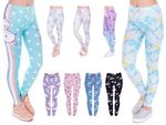 Leggings Women Printed Sexy Leggings ladies with print look motif pattern stretch pants Legins Alsino