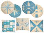 Maritime Kissen blau 35x35 von ALSINO 001