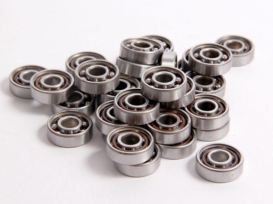 40 Stück Kugellager Nr. 2 Edelstahl 8x22 mm Miniatur Zubehör Ersatz von ALSINO