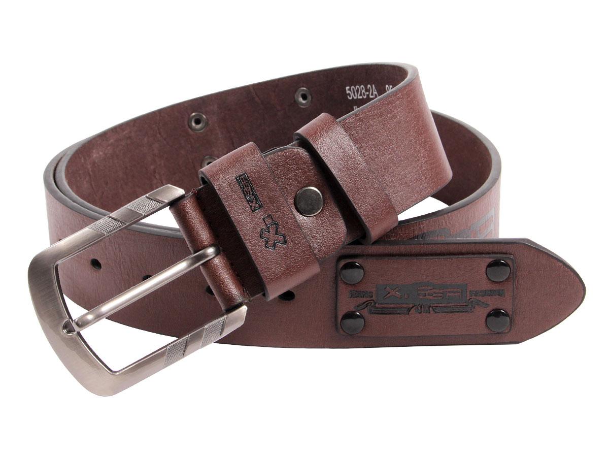 Herrengürtel Jeansgürtel Leder-gürtel Jeans Herren 4 cm breit Metall Schnalle