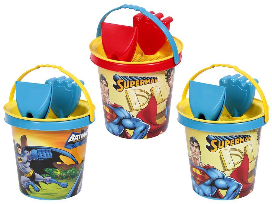 Eimer Set Kinder Sandspielzeug Batman Sandkasten 4-teilig Schaufel Superman von ALSINO – Bild 1