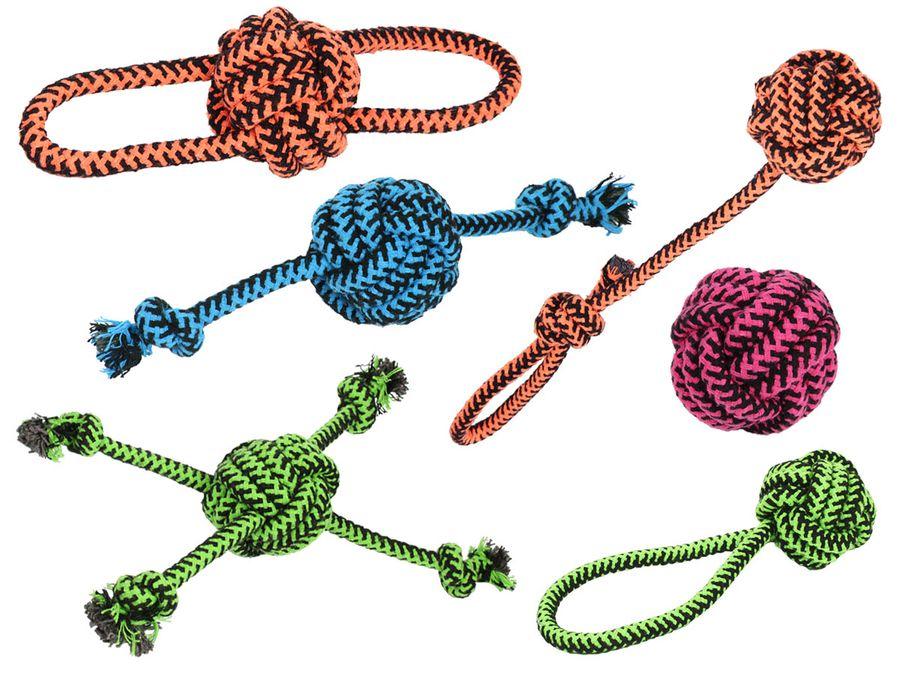 Zerrspielzeug Seilball Hundespielzeug zum apportieren