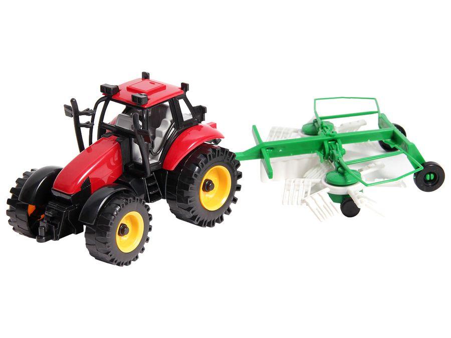 Traktor Spielzeug groß mit Anhänger 29 cm lang ALSINO – Bild 8