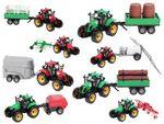 Traktor Spielzeug groß mit Anhänger 29 cm lang ALSINO 001