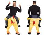 Lustiges Step-In Huckepack Huhn Chicken Kostüm JGA