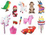 Pinata traditionnelle en papier mâché différent forme à la fois décoration et jeu Remplissez-la de bonbons et petits jouets, puis utilisez-la pour compléter déco idée cadeau ambiance anniversaire