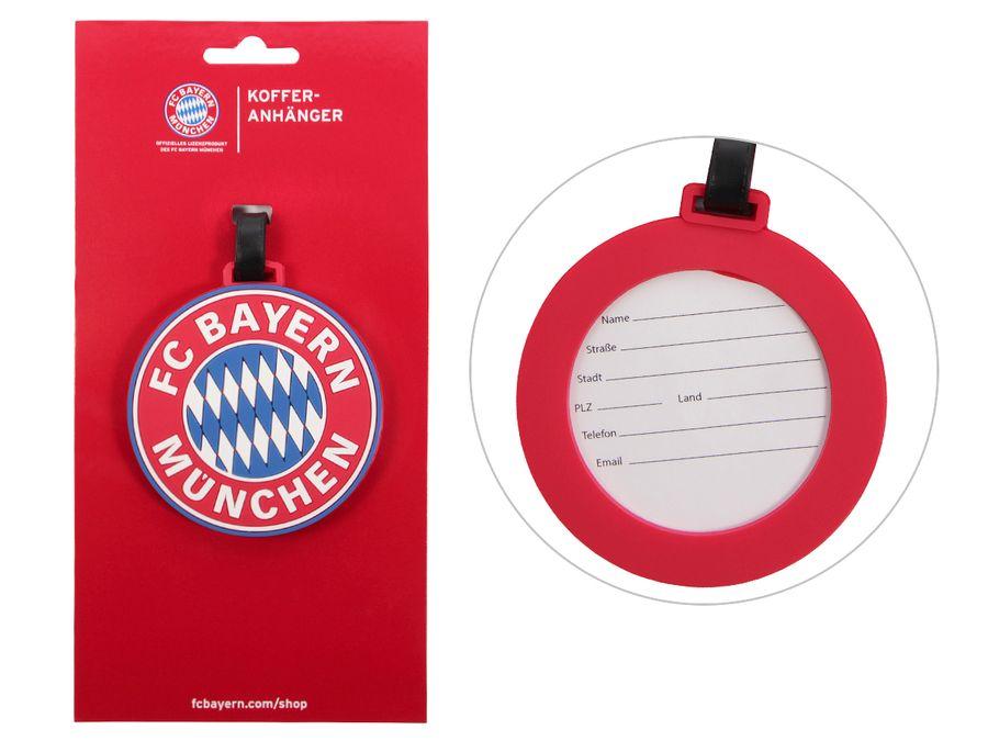 Kofferanhänger Gepäckanhänger FC Bayern München Durchmesser 8,3 cm von Original FCB Fanartikel ALSINO