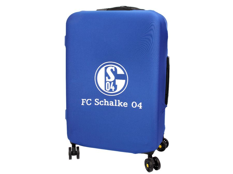 Kofferhülle Kofferüberzug FC Schalke 04 S04 Größe M City Koffer Trolley Hülle Original Fanartikel ALSINO