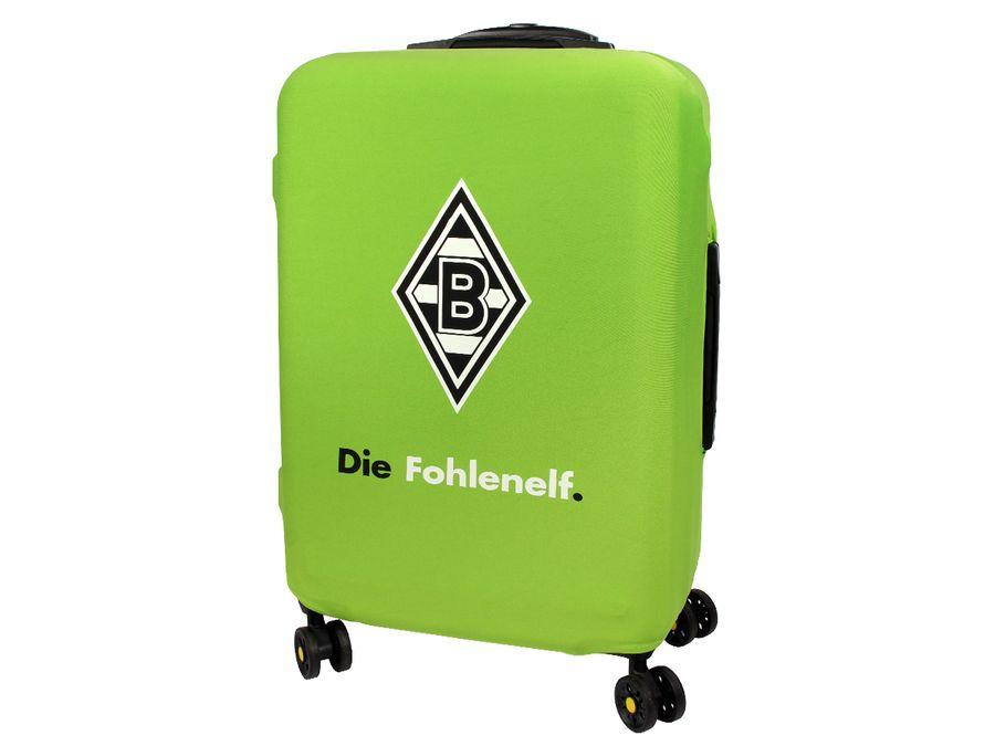 Kofferhülle Kofferüberzug Borussia Mönchengladbach Fohlenelf Größe M City Koffer Trolley Hülle Original Fanartikel ALSINO