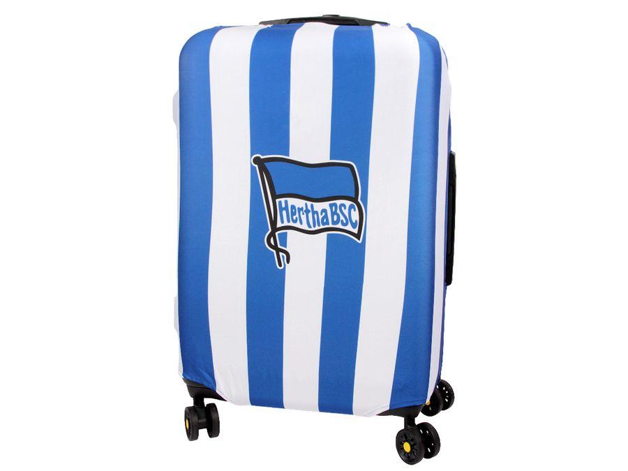 Kofferhülle Kofferüberzug Hertha BSC Berlin Alte Dame Größe M City Koffer Trolley Hülle Original Fanartikel ALSINO