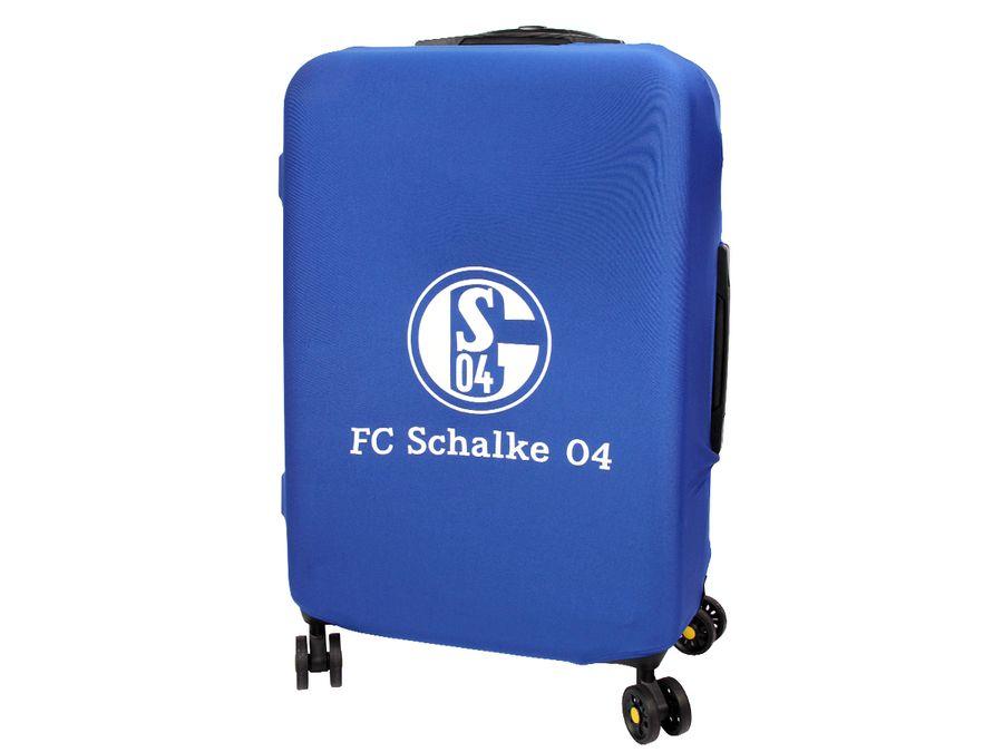Kofferhülle Kofferüberzug FC Schalke 04 S04 Größe L City Koffer Trolley Hülle Original Fanartikel ALSINO