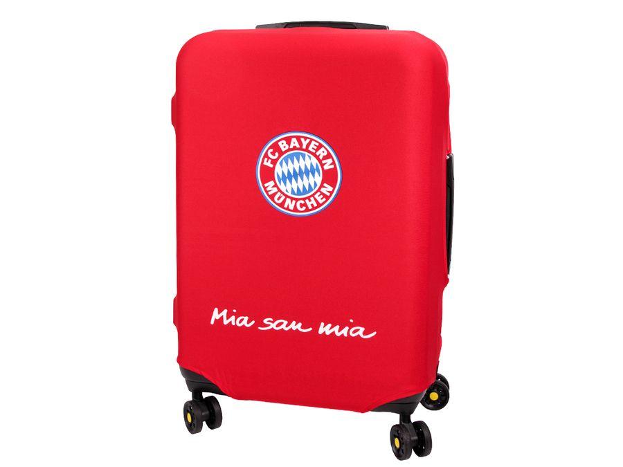 Kofferhülle Kofferüberzug FC Bayern München Größe L City Koffer Trolley Hülle Original Fanartikel ALSINO