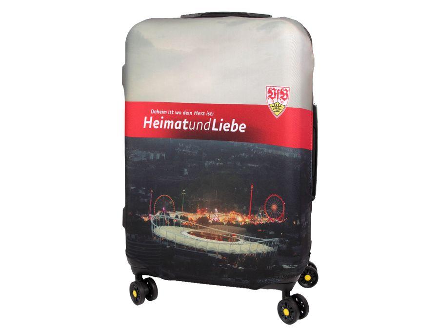 Kofferhülle Kofferüberzug VfB Stuttgart Größe L City Koffer Trolley Hülle Original Fanartikel ALSINO