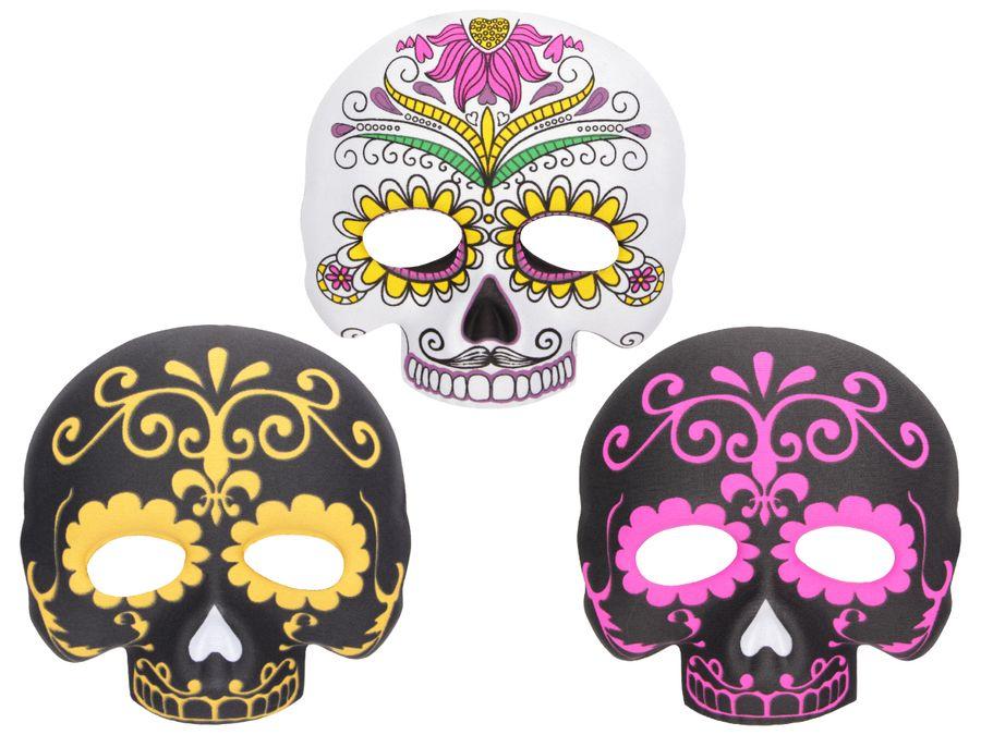 Halloween Maske Skelett Totenkopfmaske Kunststoff-Maske Totenkopf Schädel Horrormaske von ALSINO
