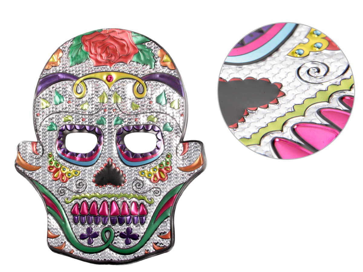 mask skull calavera colorful 973037 with ribbon for halloween