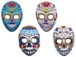 Mask Skull Calavera Colorful 973038 with Ribbon for Halloween Carnival Theme Party Horror Creepy Disguise Dia de los Muertos Adults Children Teenagers from Alsino