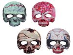 Mask Skull Zombie Colorful Half Face 973040 with Ribbon for Halloween Carnival Theme Party Horror Creepy Disguise Adults Children Teenagers from Alsino
