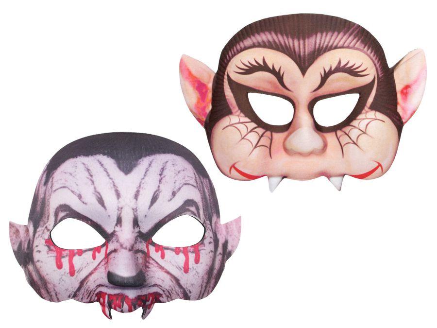 Halloween Maske Halbmaske Kunststoff-Maske Freaky Spooky Horrormaske Gruselmaske von ALSINO