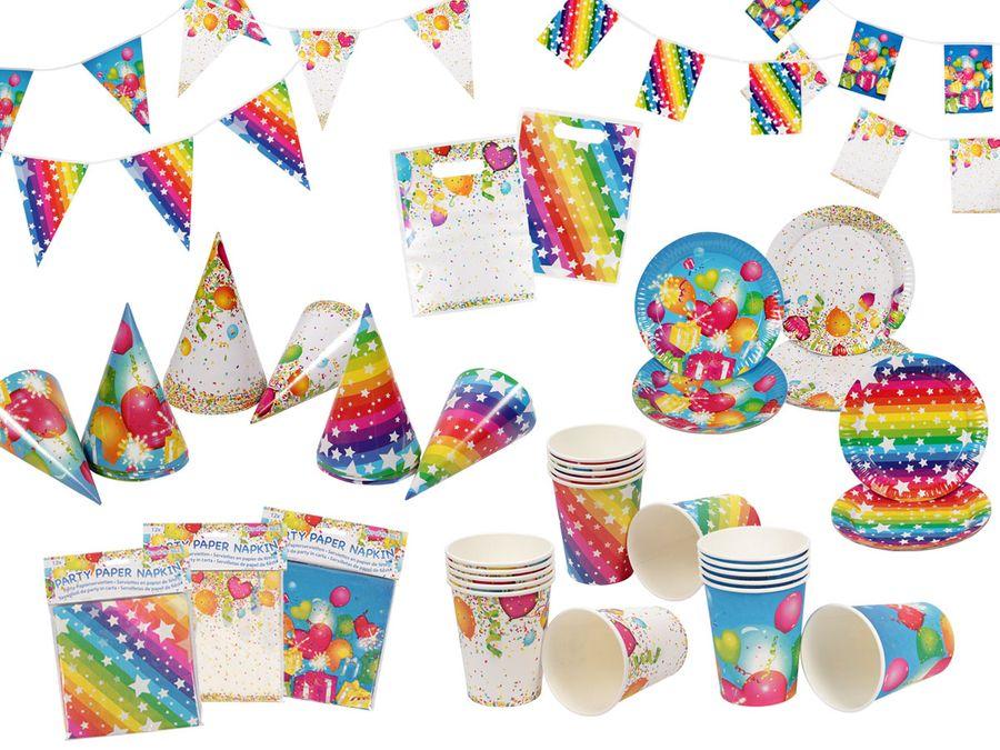 Alsino Happy Birthday Deko Set Geburtstag Kindergeburtstag Dekoration