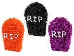 Decoration RIP Grave Stone Tombstone 9 cm Tinsel for Theme Partys Halloween Carnival Horror from Alsino