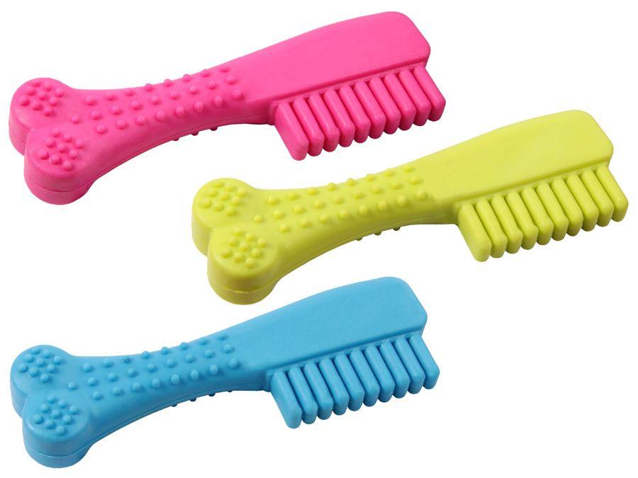 Hundezahnbürste Dental Hunde Zahnbürste Gummi Zahnpflege ergonomisch 14 cm von ALSINO 873071
