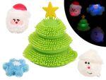Weihnachten Gadget Puffer mit Lichteffekt Geschenkidee Anti Stress Weihnachtsmann Tannenbaum LED Weihnachtsdeko von ALSINO