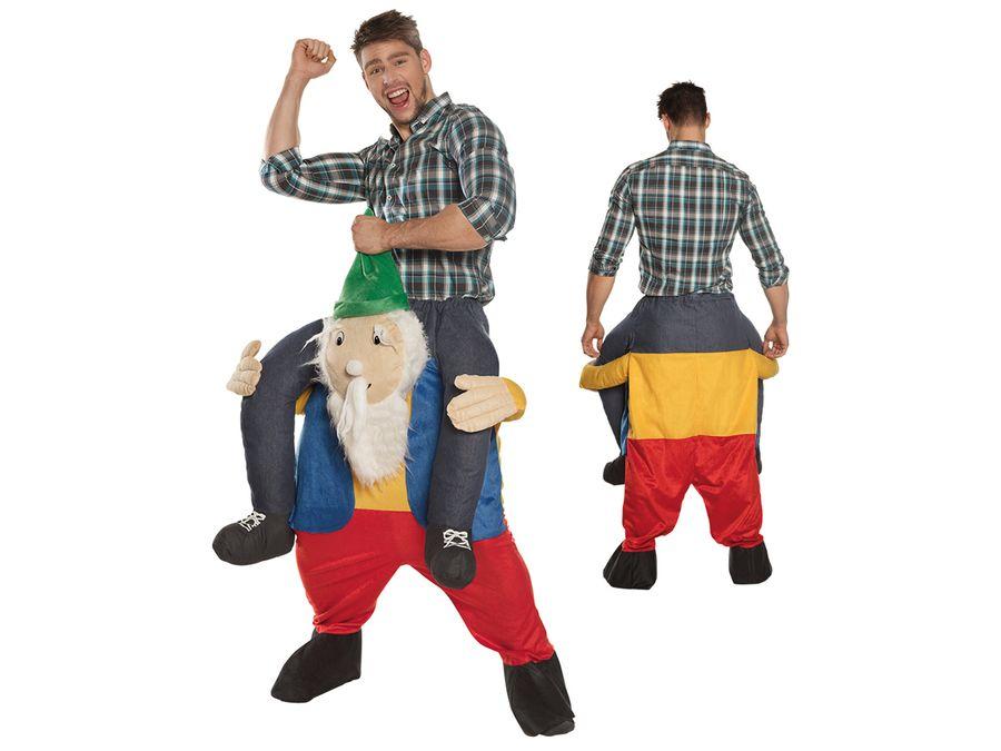 Lustiges Step-In Huckepack Zwerg Kostüm JGA Junggesellenabschied von ALSINO