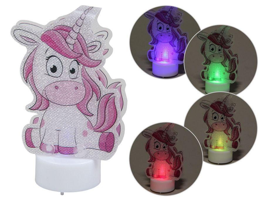 LED Einhorn Schlummerlicht Einhörner Kinderzimmer Nachtlicht magisches Unicorn Figur Farbwechsel für Kinder von ALSINO