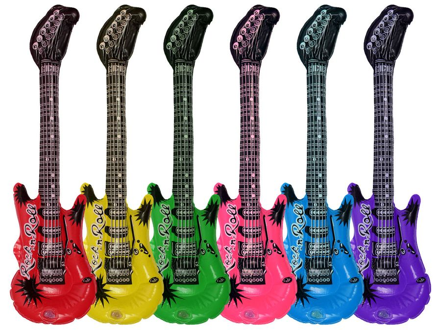 12 Stück Aufblasbare Luftgitarren Größe 55 cm LG4706