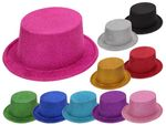 Cylinder Hat | Glitter | Sparkling | One Size | Adults | for Disguise | Fancy Dress | Costume | Magician | Carnival | Halloween | Theme Party
