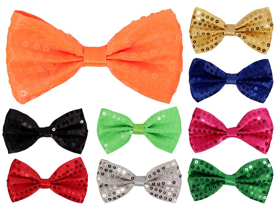 Pailletten Party Fliege Bowtie – Bild 1
