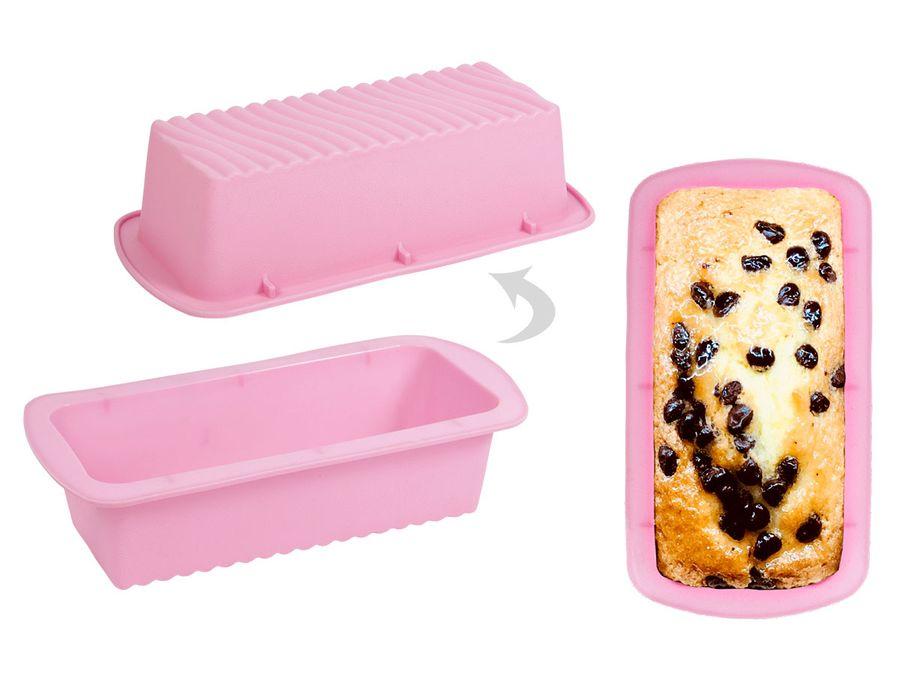 ALSINO Silikon Backform Kuchen Brot P832041 Form pink Kastenform