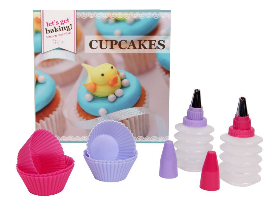 9 teiliges Cupcake Dekorations Set Silikonform Rezeptbuch  Muffinform P839012 Cupcakeform Tüllen Spritzen von Alsino
