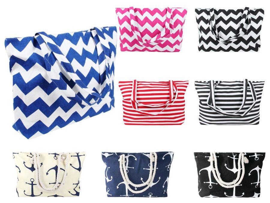 Strandtasche Shopper Beach Schultertasche Damentasche Einkaufstasche Badetasche von Alsino