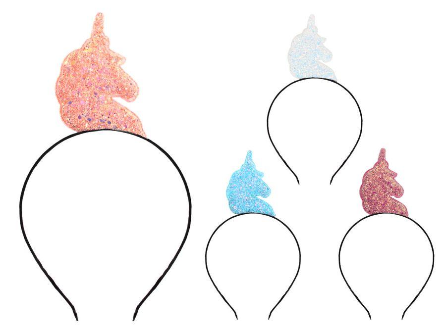 Einhorn Haarschmuck Haarreifen Blumenmädchen Einhörner Kinder Kinderhaarreifen Erwachsene von ALSINO HR-34 – Bild 1