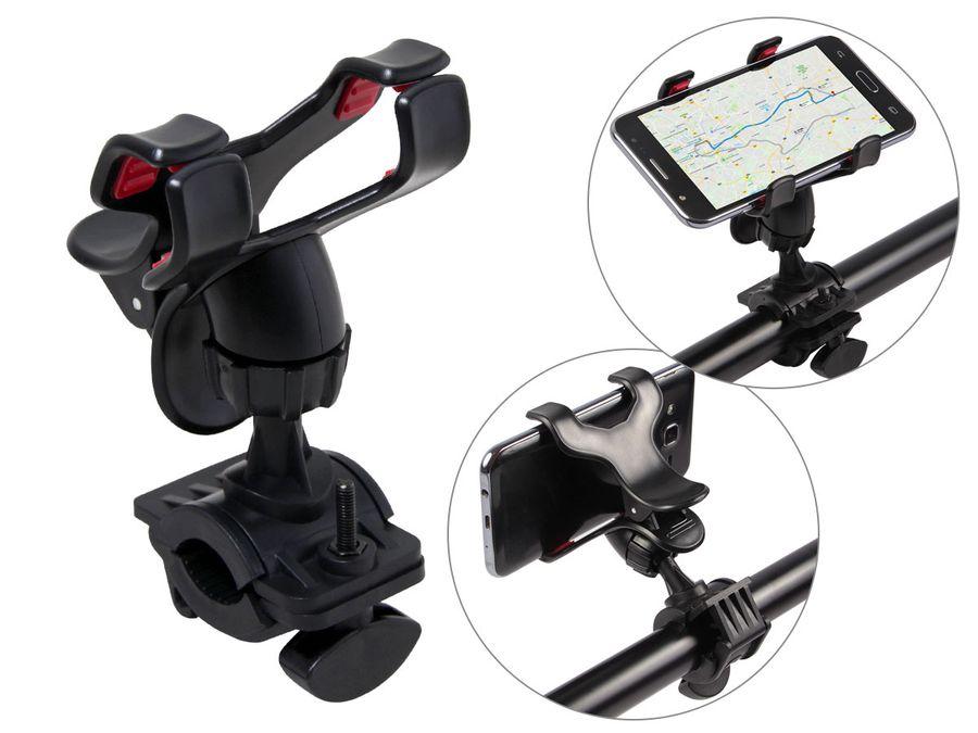 Handyhalter für Fahrrad Motorrad Lenker Fahrradhalterung Smartphone-Halter 69/0099 Universal von Alsino