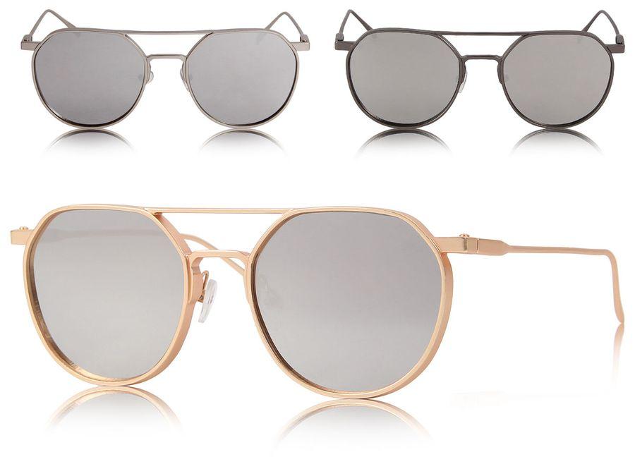 Loox Sonnenbrille Dubai Pilotenbrille verspiegelt Damen Herren - Aluminium Rahmen in Matt - Gläser aus Polycarbonat