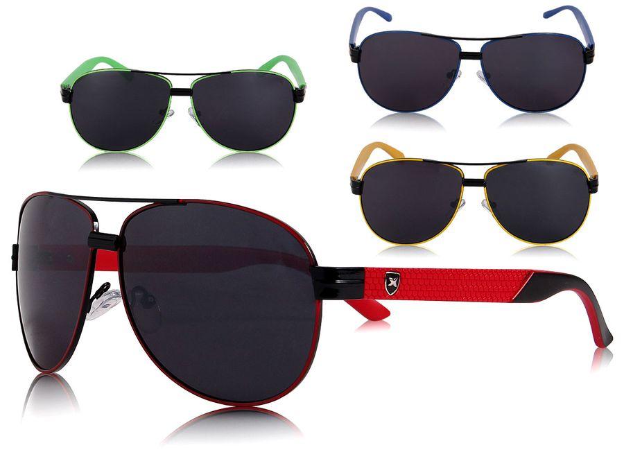 Loox Sonnenbrille Paris Pilotenbrille Fliegerbrille Damen Herren Unisex - Gläser aus Polycarbonat - stabiles Gestell