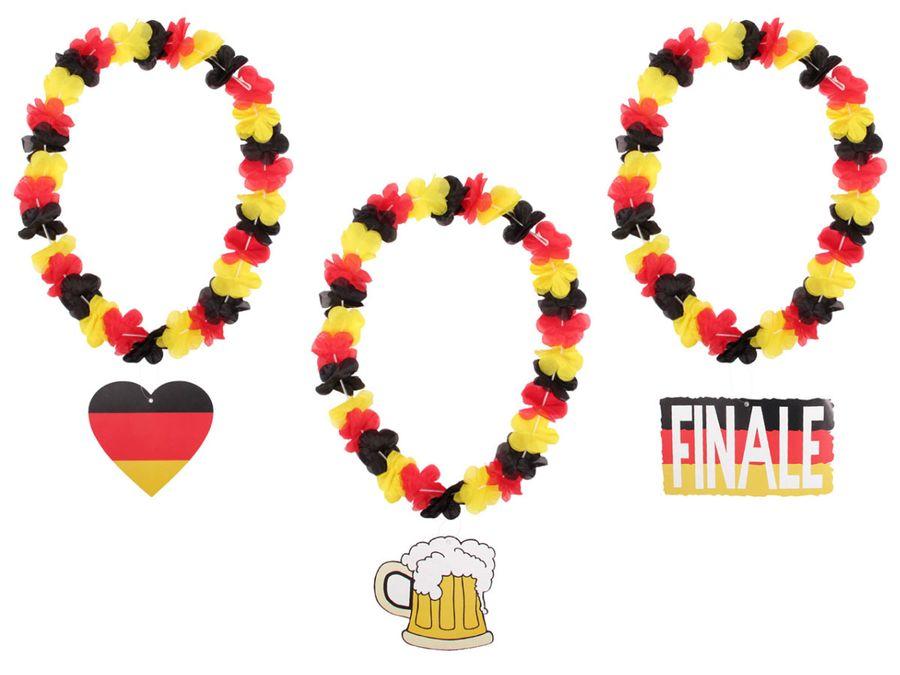 Hawaiikette Hawaiiketten Deutschland WM / WM Hawaiiketten Blumenketten mit Banner