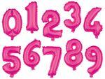 Ballon XXL Rose pink en forme de chiffre Gonflable en Aluminium de qualité supérieure Numéro environ: 80 cm décoration compléter déco idée cadeau ambiance anniversaire garçon fille adulte enfant