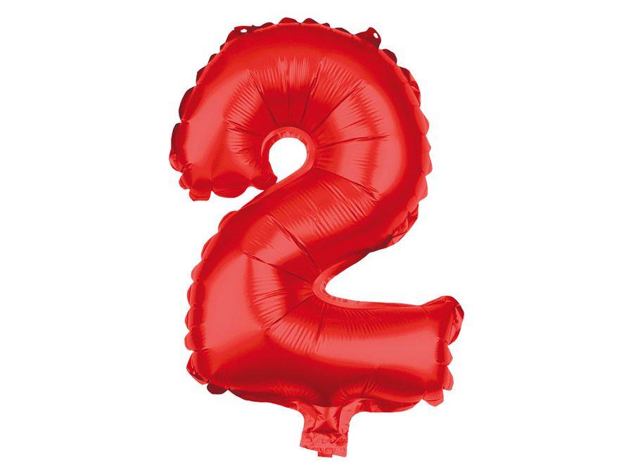 XXL Folienballons Luftballon Heliumballon Zahlenballon Ziffer 0-9 rot 80 cm Party Geburtstag Hochzeit von Alsino – Bild 4