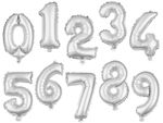 "Large Foil Balloon Numbers Silver 32"" Party Birthday Anniversary Wedding from Alsino"