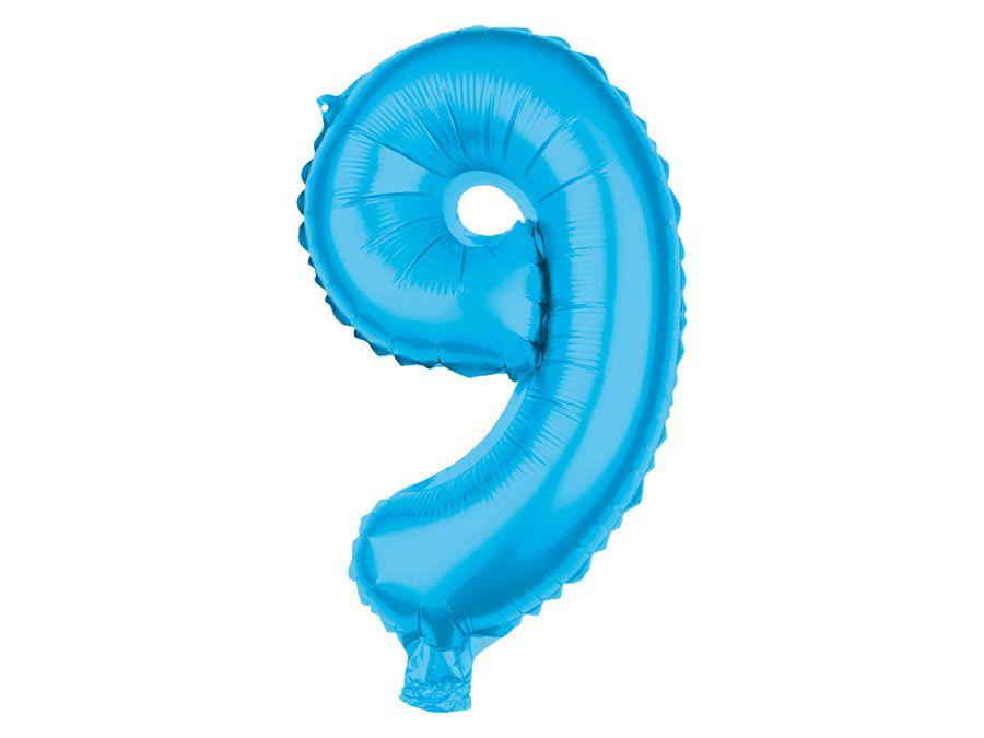XXL Folienballons Luftballon Heliumballon Zahlenballon Ziffer 0-9 hellblau 80 cm Party Geburtstag Hochzeit von Alsino – Bild 11