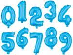 "Large Foil Balloon Numbers Blue 32"" Party Birthday Anniversary Wedding from Alsino"