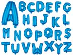 "Large Foil Balloon Letters Blue 32"" Party Birthday Anniversary Wedding from Alsino"