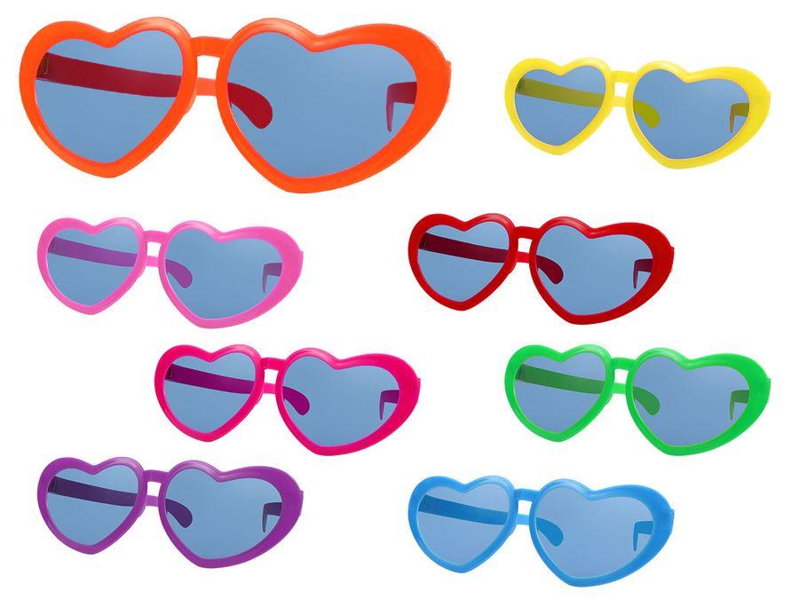 Funbrille Sonnenbrille Partybrille Riesenbrille Spaßbrille Herz Karneval Fasching Party F-054 von Alsino