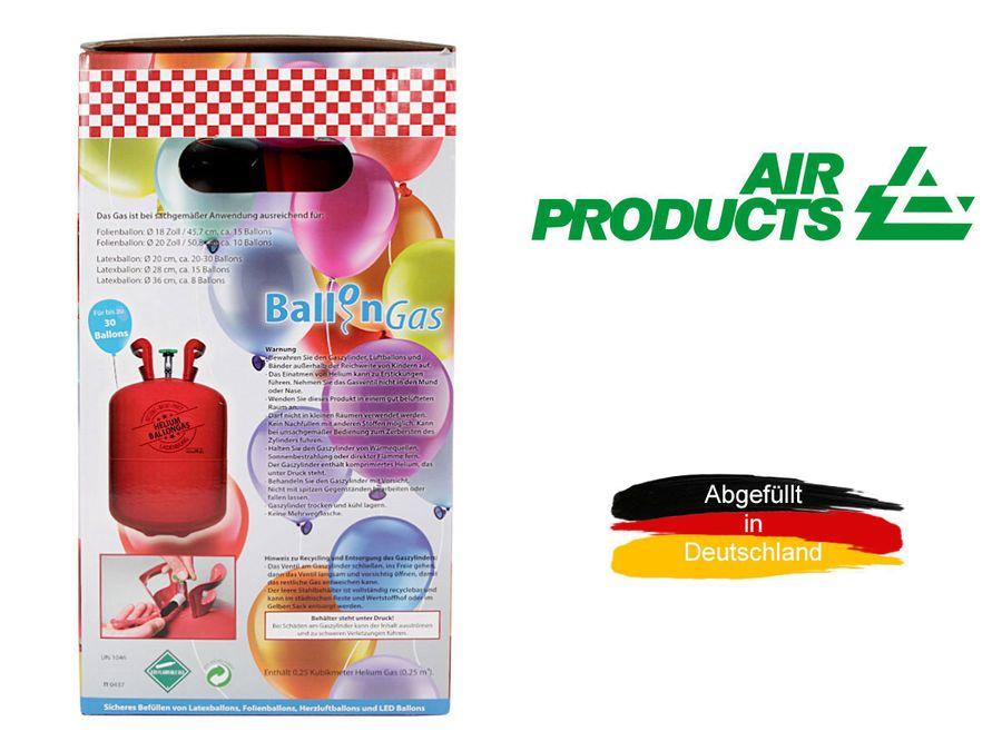 Heliumgasflasche Heliumgas Helium Gasflasche Ballongas Einweg von Alsino – Bild 6