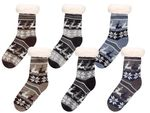 Cosy Indoor Winter Socks for Men One Size 6 – 9.5 Anti-slip Warm Lining Super Soft Norwegian Style Snowflake Girls from Alsino